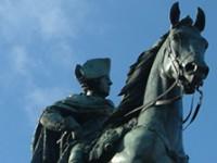 Rundgang Friedrich der Große Statue Unter den Linden Boulevard